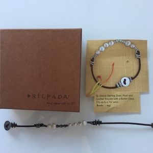 Silpada | Silver, Leather & Pearl Bracelet